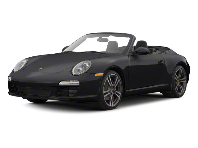 Black 2010 Porsche 911 Pictures 911 Cabriolet 2D Turbo AWD photos front view