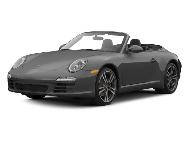 Atlas Grey Metallic 2010 Porsche 911 Pictures 911 Cabriolet 2D Turbo AWD photos front view