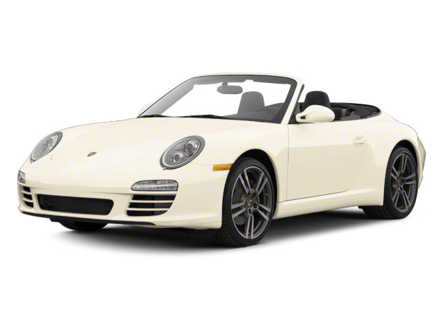 Cream White 2010 Porsche 911 Pictures 911 Cabriolet 2D Turbo AWD photos front view
