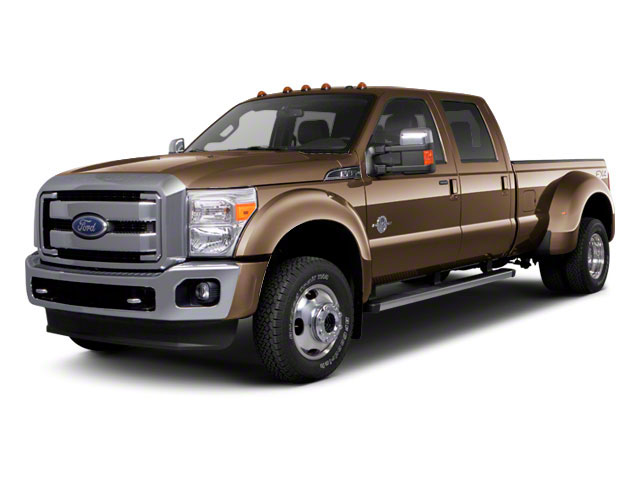 Pale Adobe Metallic 2011 Ford Super Duty F-450 DRW Pictures Super Duty F-450 DRW Crew Cab Lariat 4WD T-Diesel photos front view