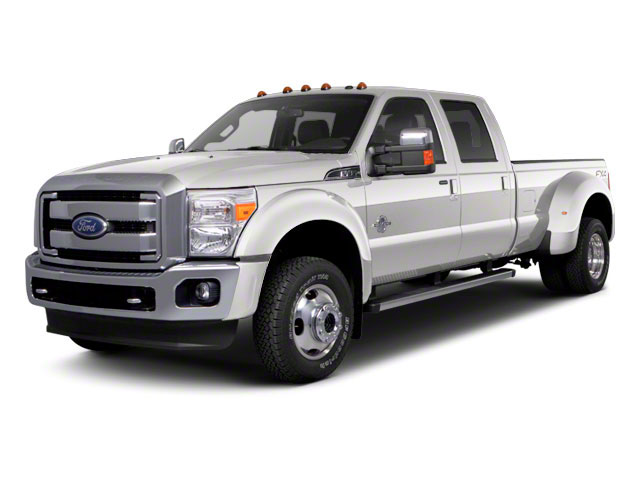 Oxford White 2011 Ford Super Duty F-450 DRW Pictures Super Duty F-450 DRW Crew Cab Lariat 4WD T-Diesel photos front view