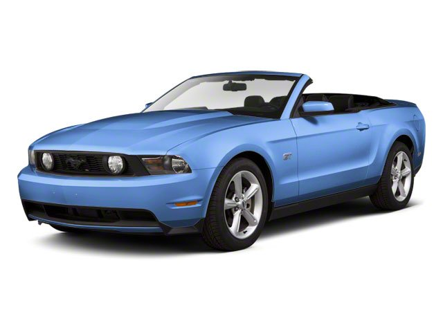 Grabber Blue 2011 Ford Mustang Pictures Mustang Convertible 2D GT photos front view