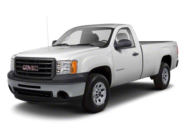 Pure Silver Metallic 2011 GMC Sierra 1500 Pictures Sierra 1500 Regular Cab SLE 4WD photos front view