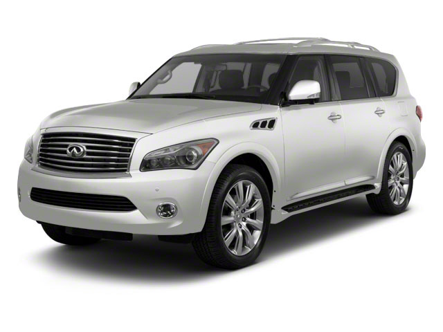 Moonlight White 2011 INFINITI QX56 Pictures QX56 Utility 4D 4WD photos front view