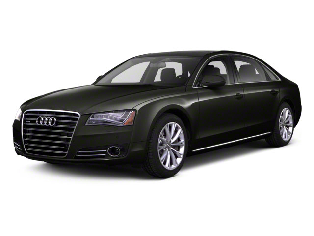 Havanna Black Metallic 2012 Audi A8 L Pictures A8 L Sedan 4D 4.2 Quattro L photos front view