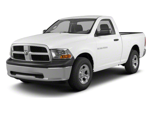 Bright White 2012 Ram Truck 1500 Pictures 1500 Regular Cab SLT 2WD photos front view