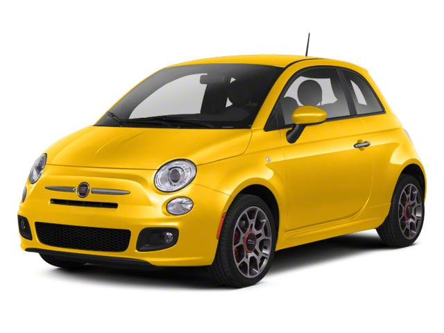 Giallo (Yellow) 2012 FIAT 500 Pictures 500 Hatchback 3D Sport photos front view