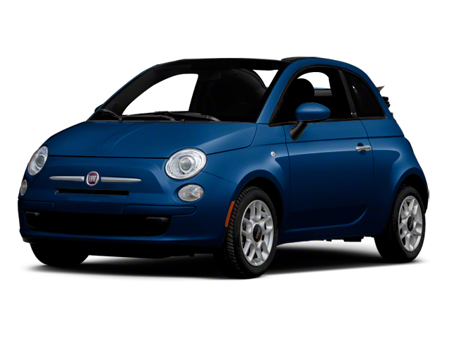 Azzurro (Blue) 2012 FIAT 500 Pictures 500 Convertible 2D Lounge photos front view