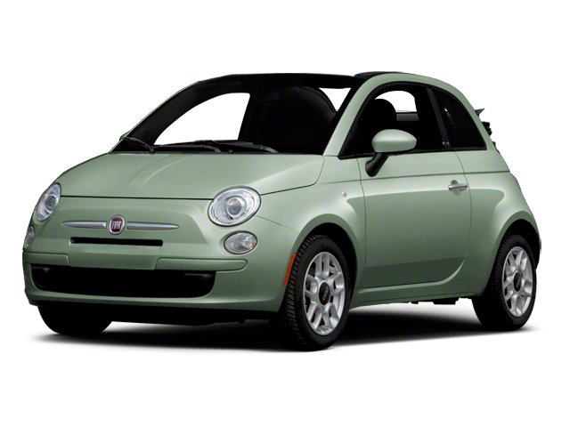 Verde Chiaro (Light Green) 2012 FIAT 500 Pictures 500 Convertible 2D Lounge photos front view