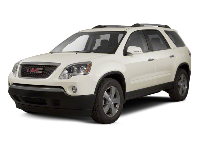 White Diamond Tricoat 2012 GMC Acadia Pictures Acadia Wagon 4D SLE AWD photos front view
