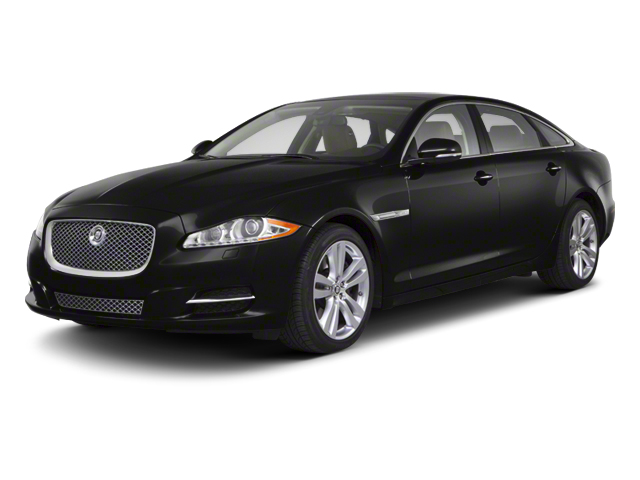 Midnight Black 2012 Jaguar XJ Pictures XJ Sedan 4D photos front view