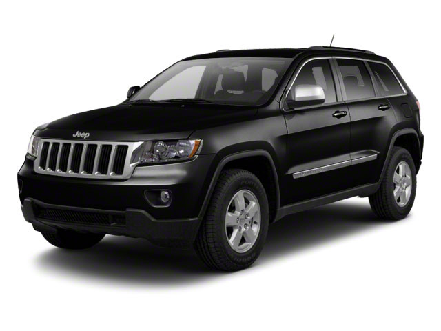 Brilliant Black Crystal Pearl 2012 Jeep Grand Cherokee Pictures Grand Cherokee Utility 4D Overland 4WD photos front view