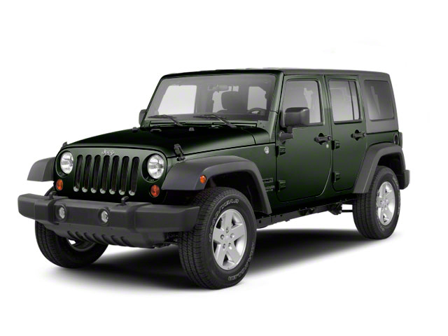 Black Forest Green Pearl 2012 Jeep Wrangler Unlimited Pictures Wrangler Unlimited Utility 4D Unlimited Sport 4WD photos front view