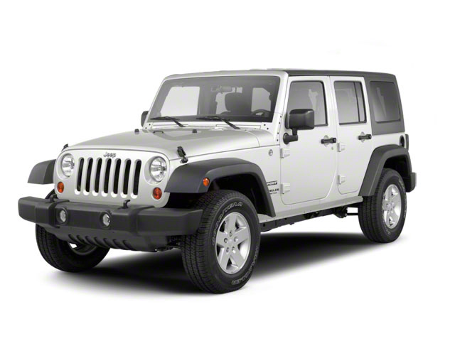 Bright White 2012 Jeep Wrangler Unlimited Pictures Wrangler Unlimited Utility 4D Unlimited Altitude 4WD V6 photos front view