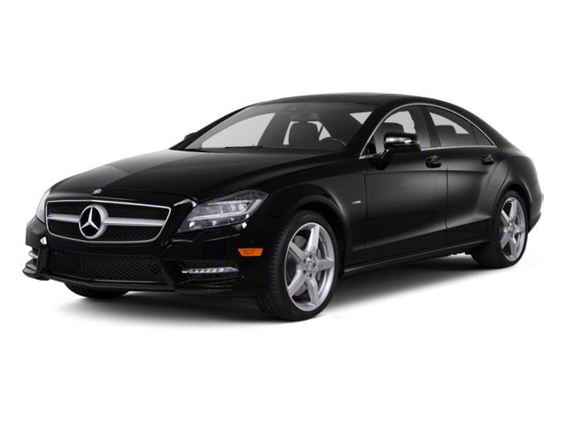 Obsidian Black Metallic 2012 Mercedes-Benz CLS-Class Pictures CLS-Class Sedan 4D CLS550 AWD photos front view