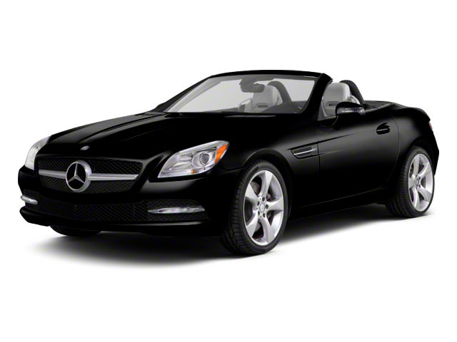Obsidian Black Metallic 2012 Mercedes-Benz SLK-Class Pictures SLK-Class Roadster 2D SLK350 photos front view