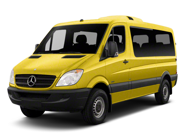 Calcite Yellow 2012 Mercedes-Benz Sprinter Passenger Vans Pictures Sprinter Passenger Vans Passenger Van High Roof photos front view
