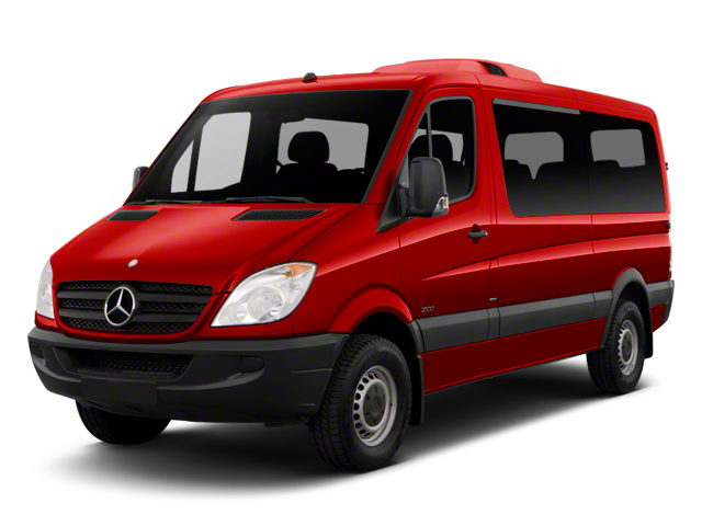Flame Red 2012 Mercedes-Benz Sprinter Passenger Vans Pictures Sprinter Passenger Vans Passenger Van High Roof photos front view