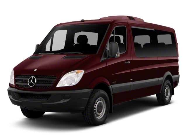Amber Red Metallic 2012 Mercedes-Benz Sprinter Passenger Vans Pictures Sprinter Passenger Vans Passenger Van High Roof photos front view