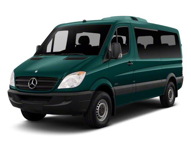 Aqua Green 2012 Mercedes-Benz Sprinter Passenger Vans Pictures Sprinter Passenger Vans Passenger Van High Roof photos front view