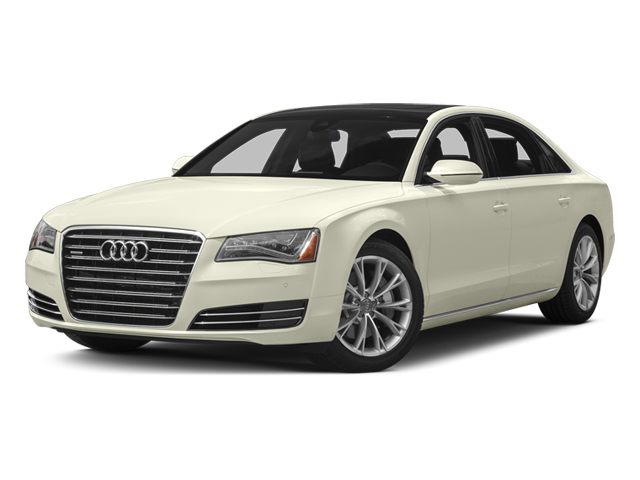 Glacier White Metallic 2013 Audi A8 L Pictures A8 L Sedan 4D 3.0T L AWD V6 Turbo photos front view