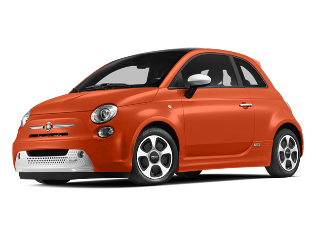 Electric Orange Tri-Coat Pearl 2013 FIAT 500e BATTERY ELECTRIC Pictures 500e BATTERY ELECTRIC Hatchback 3D 500e Electric photos front view