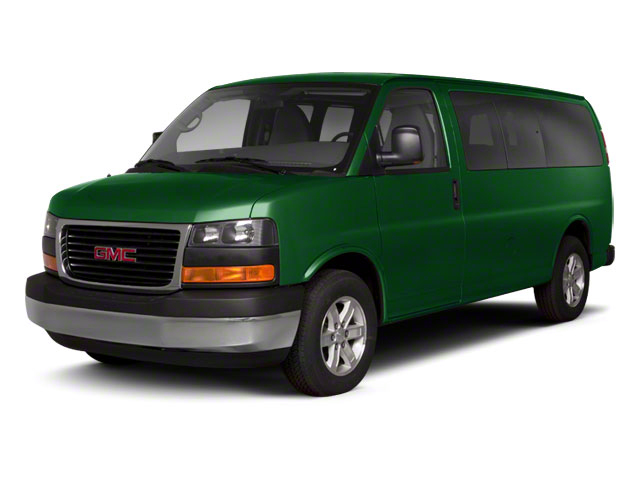 Polo Green Metallic 2013 GMC Savana Passenger Pictures Savana Passenger Savana LT 135 photos front view