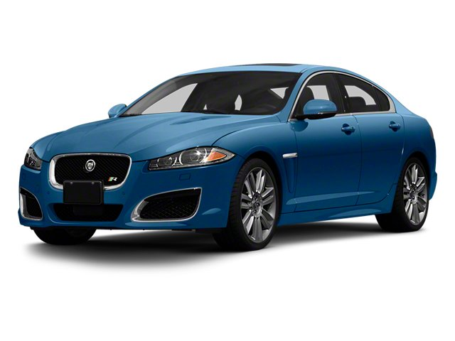 Kyanite Blue Metallic 2013 Jaguar XF Pictures XF Sedan 4D XFR V8 Supercharged photos front view