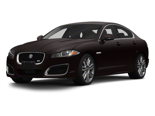Ultimate Black Metallic 2013 Jaguar XF Pictures XF Sedan 4D XFR V8 Supercharged photos front view