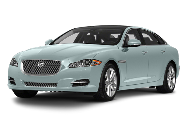 Crystal Blue 2013 Jaguar XJ Pictures XJ Sedan 4D L Portfolio AWD V6 photos front view
