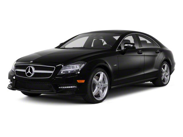 Obsidian Black Metallic 2013 Mercedes-Benz CLS-Class Pictures CLS-Class Sedan 4D CLS550 AWD photos front view