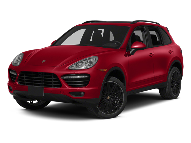 Carmine Red 2013 Porsche Cayenne Pictures Cayenne Utility 4D Turbo AWD (V8) photos front view