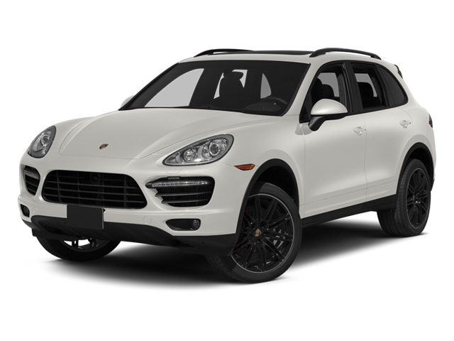 White 2013 Porsche Cayenne Pictures Cayenne Utility 4D Turbo AWD (V8) photos front view