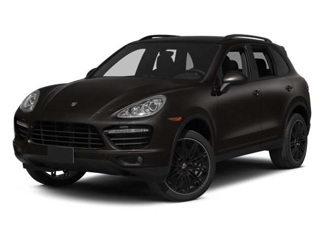 Jet Black Metallic 2013 Porsche Cayenne Pictures Cayenne Utility 4D Turbo AWD (V8) photos front view