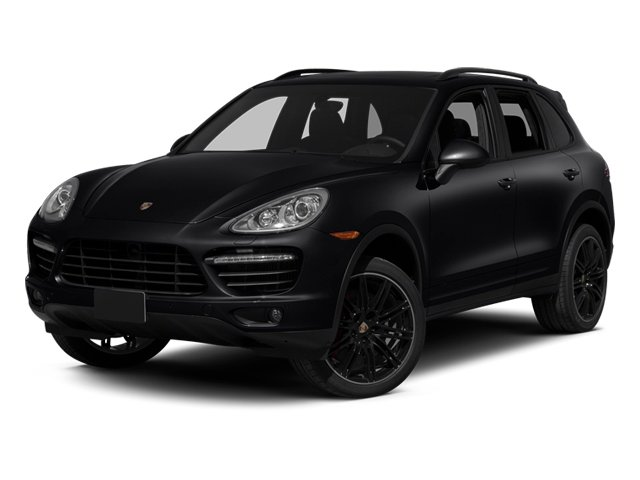 Black 2013 Porsche Cayenne Pictures Cayenne Utility 4D Turbo AWD (V8) photos front view