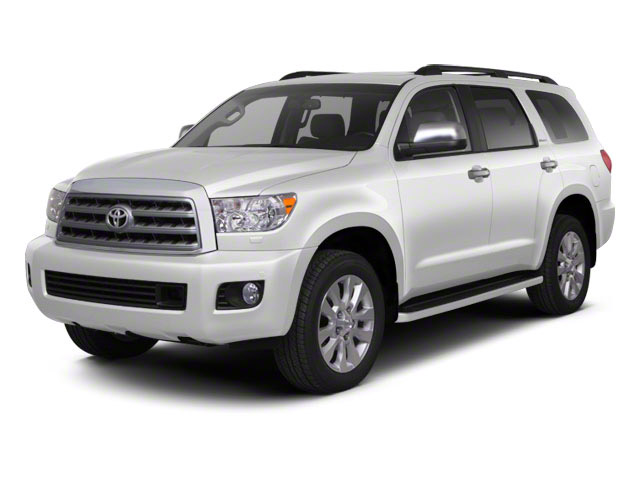 Super White 2013 Toyota Sequoia Pictures Sequoia Utility 4D SR5 2WD V8 photos front view