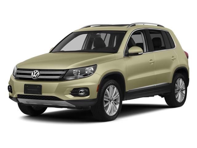 White Gold Metallic 2013 Volkswagen Tiguan Pictures Tiguan Utility 4D SEL 2WD I4 Turbo photos front view