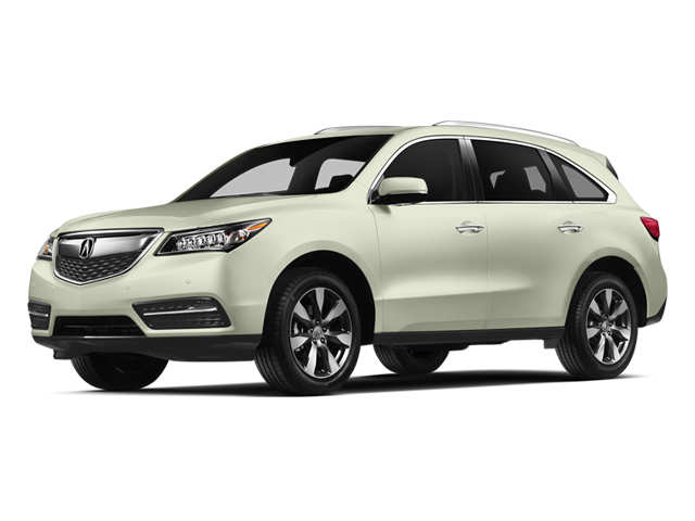 White Diamond Pearl 2014 Acura MDX Pictures MDX Utility 4D Advance DVD 2WD V6 photos front view