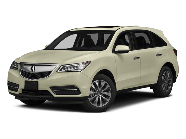 White Diamond Pearl 2014 Acura MDX Pictures MDX Utility 4D Technology DVD AWD V6 photos front view