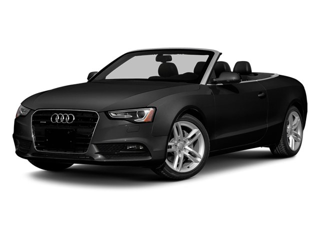 Brilliant Black/Black Roof 2014 Audi A5 Pictures A5 Convertible 2D Premium 2WD photos front view