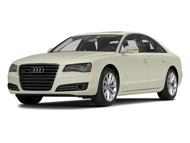 Glacier White Metallic 2014 Audi A8 Pictures A8 Sedan 4D 4.0T AWD V8 Turbo photos front view