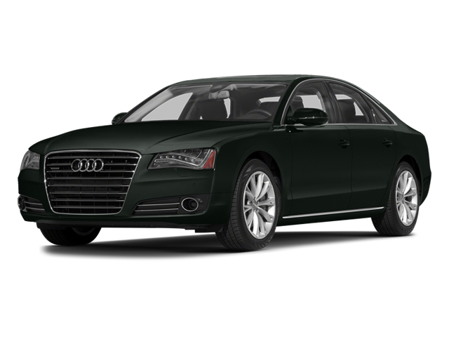 Emerald Black Metallic 2014 Audi A8 Pictures A8 Sedan 4D 4.0T AWD V8 Turbo photos front view
