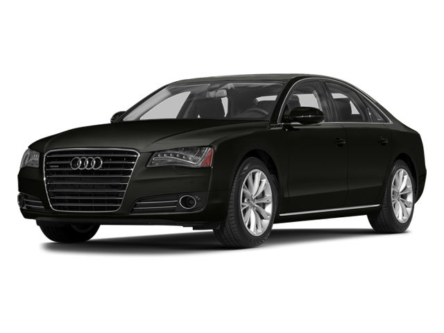 Havanna Black Metallic 2014 Audi A8 Pictures A8 Sedan 4D 4.0T AWD V8 Turbo photos front view