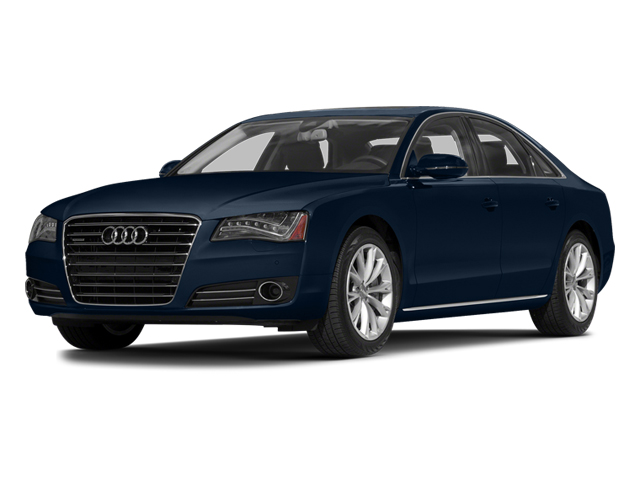 Night Blue Pearl Effect 2014 Audi A8 Pictures A8 Sedan 4D 4.0T AWD V8 Turbo photos front view