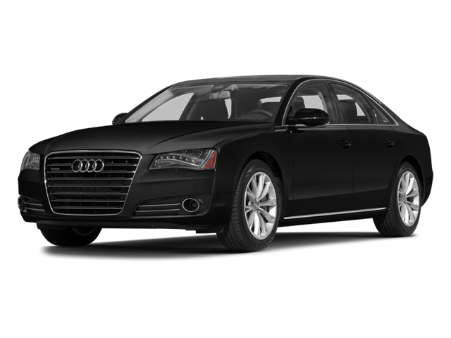 Brilliant Black 2014 Audi A8 Pictures A8 Sedan 4D 4.0T AWD V8 Turbo photos front view