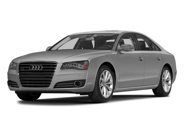 Ice Silver Metallic 2014 Audi A8 Pictures A8 Sedan 4D 4.0T AWD V8 Turbo photos front view