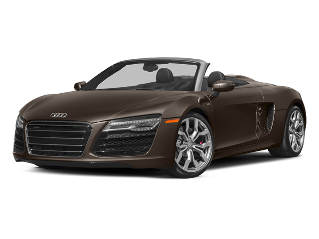 Teak Brown Metallic/Black Roof 2014 Audi R8 Pictures R8 2 Door Convertible Quattro Spyder V10 (Manual) photos front view