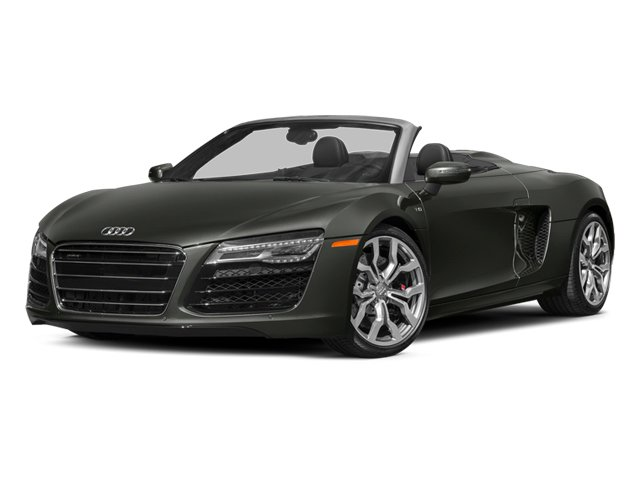 Daytona Gray Pearl Effect/Black Roof 2014 Audi R8 Pictures R8 2 Door Convertible Quattro Spyder V10 (Manual) photos front view
