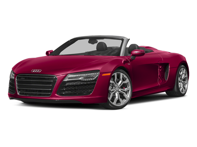 Brilliant Red/Black Roof 2014 Audi R8 Pictures R8 2 Door Convertible Quattro Spyder V10 (Manual) photos front view
