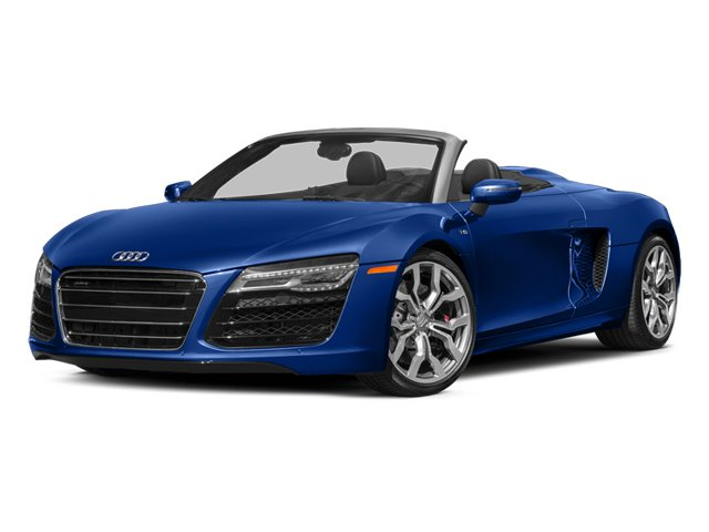 Sepang Blue Pearl Effect/Black Roof 2014 Audi R8 Pictures R8 2 Door Convertible Quattro Spyder V10 (Manual) photos front view